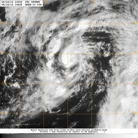 Visible Satellite Imagery of 95L